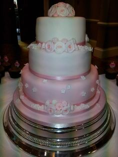 Pink Rosebud Wedding Cake ~  all edible