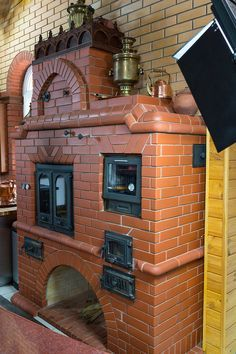 Pizza Oven Fireplace, Basement Fireplace, Build A Fireplace, Farmhouse Fireplace, Wood Stove Cooking, Kitchen Stove, Garden Fountains For Sale, Bbq Firebox, Ovens