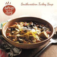 Southwestern Turkey Soup Recipe from Taste of Home -- shared by Brenda Kruse, Ames, Iowa