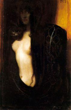 'the sin,' franz von stuck, 1893