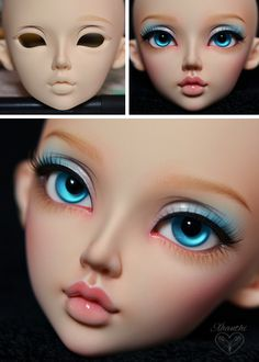 Best 11 Dolls & Other Things — I started waffling about how I do faceups in case… – SkillOfKing. Doll Repaint Tutorial, Doll Tutorial, Doll Face Paint, Doll Painting, Pretty Dolls, Beautiful Dolls, Marionette, Polymer Clay Dolls, Anime Dolls