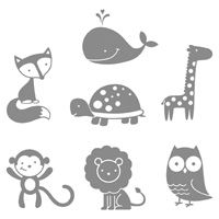 Sister-if you go with any of these animals these are cute stamps...