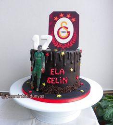 (gizemintatlidunyasi): Ela Selin 17 Yaşında 💛❤️ #gs #galatasaray #galatasaraypasta #şekerhamursuzpasta Pasta Cake, Cupcake, Abs, Cupcake Cakes, Cup Cakes, Teacup Cake