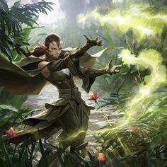 another Nissa painting for Magic : The Gathering, looking forward to seeing it on the card