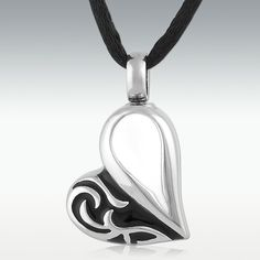 Tocca Heart Stainless Steel Cremation Jewelry - Engravable  $22 (perfect Memorials)
