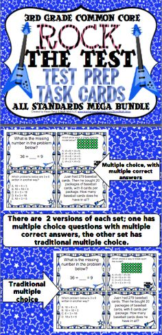 56 best classroom act aspire test images on pinterest school 3rd grade math test prep task cards rock the test help your students fandeluxe Choice Image
