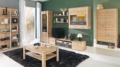 BAFLO living dining room bedroom office modern furniture set oak wood effect in Home, Furniture & DIY, Furniture, Cabinets & Cupboards Long Tv Unit, Modern Furniture Sets, Diy Furniture, Contemporary Tv Units, Tv Unit Design, Oak Color, Colour, Bedroom Office, Built Ins