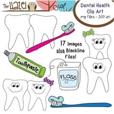 Dental Health Clip Art!  Dental Health Month is Almost Here!