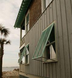 shutters on a North Carolina beach cottage
