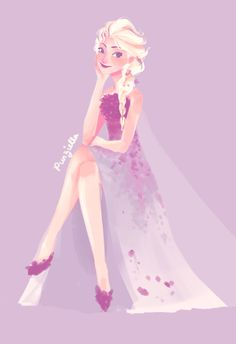 Elsa's new dress by Punziella