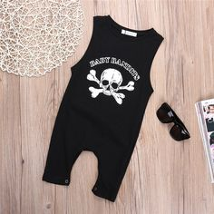 Newborn Toddler Baby Boy Girls Sleeveless Romper Jumpsuit personality Pirate  Skull Costume Outfits-in Rompers from Mother   Kids on Aliexpress.com  179fe23ffdc8