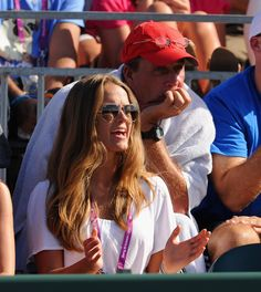Ivan Lendl (in red cap) with Kim Sears at the Sony Ericsson Open, March 26, 2012.       -------      http://en.wikipedia.org/wiki/Ivan_Lendl