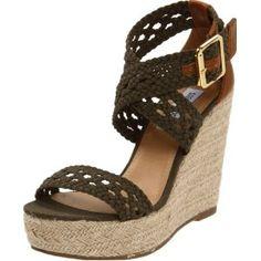 Steve Madden Women's Magestee Wedge Sandal (Apparel) http://www.2hourday.com/amz/bestseller.php?p=B006A0GX0U #brogues #moccasins #flip flops #stilettos #skechers
