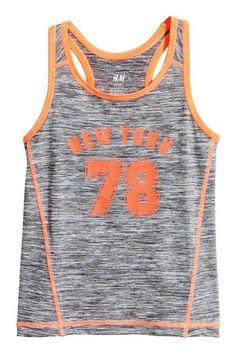 013af2398a H M Sports Tank Top - Gray melange - Kids  ad Girls Sportswear
