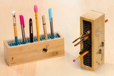 縦/横どちらでも使えて、入れやすく取り出しやすいペン立て | roomie(ルーミー)