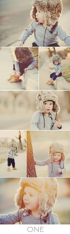 Love everything about this shoot, from the casualness to the hat and coloring...for fall family shoot.