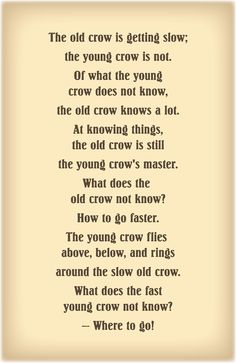 Old Crow, Young Crow Didn't Elder Packer use this in the 2011 general conference? Crow Spirit Animal, Animal Spirit Guides, Raven And Wolf, Quoth The Raven, Lds Quotes, Inspirational Quotes, Between Two Worlds, Crows Ravens, Rhyme And Reason