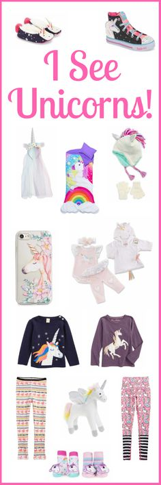 Unicorn overload! Need a unicorn gift for someone? Unicorn gifts for babies, kids, teens, and mom too! Unicorn everything! Unicorn phone case, unicorn leggins, unicorn shoes! #sponsored