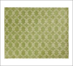 Scroll Tile Rug - Green | Pottery Barn