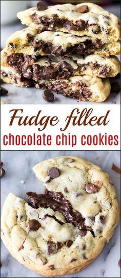 Fudge Filled Chocolate Chip Cookies