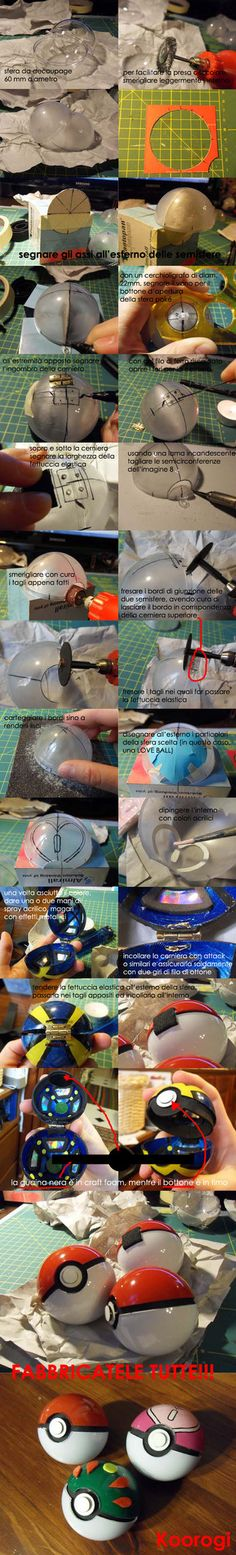 Shows how to make your own Pokeballs!