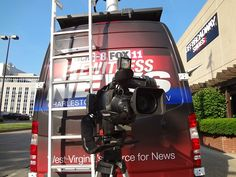 """WCHS & WVAH TV """"Hope in Oklahoma"""" boot drive #OKstrong May 30, 2013 Ready to go LIVE on TV."""