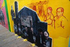 유신의 초상'벽화 부분 인사동 유신 40년 공동주제기획 6부작 [유체이탈 : 維 體 離 脫]space99 2012
