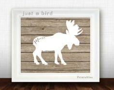 Rustic lodge moose nursery