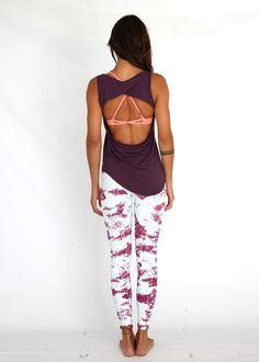 Lean On Me Tank by Tiffany Cruikshank - Wine Workout Clothes for Women | SHOP @ FitnessApparelExp...
