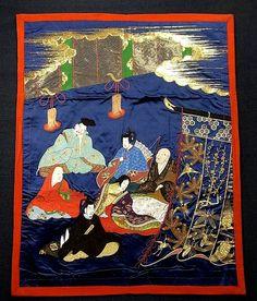 Supreme Edo Embroidery Fukusa  #239526 Kimono Flea Market ICHIROYA