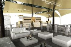 The Moët & Chandon Terrace at this year's U.S. Open will have a champagne and white color scheme and an illuminated floor.