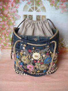 Женские сумки ручной работы. Джинсовая сумка