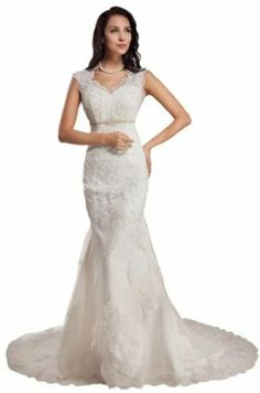 GEORGE BRIDE Sleeveless Lace Over Satin Chapel Train Wedding Dress With Sexy Back http://www.branddot.com/13/GEORGE-BRIDE-Sleeveless-Chapel-Wedding/dp/B00AUQGCO2/ref=sr_1_75/186-9916956-1777469?s=apparel