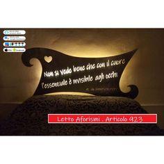 Letto Design in Ferro . Aforisma Piccolo Principe . con illuminazione Led SMART . compatibile con iOS e Android . funziona con Amazon Alexa, Google Home, Ifttt . WIFI luce lampada DOMOTICA INTELLIGENTE . 923 Ios, Tech Companies, Google, Company Logo, Amazon, Design, Ebay, Iron, Android
