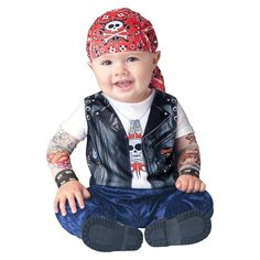 Baby Kids' Born to be Wild Costume 12-18 Months, Boy's, Multicolored