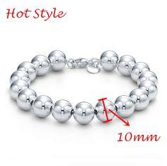 Barato Hot 925 prata 10 mm contas para pulseira mulher, Compro Qualidade Pulseiras de corrente diretamente de fornecedores da China: Se você tiver alguma dúvida, entre em contato conosco. Vamos dar-lhe resposta no primeiro tempo Estilo H
