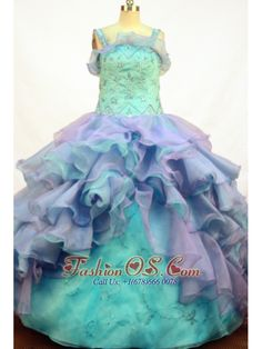 Gorgeous Ball Gown Flower Girl Dress Straps Floor-length- $179.26  www.fashionos.com    sleeveless pageant dress with straps   places to get little girl pageant dress   lace up back little girl pageant dress   glimmering and shinning pageant dresses in sarcelles   brilliant and fabulous dresses for glitz pageants in les abymes  