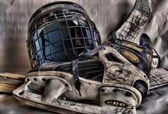 Good picture for Cory, but instead of the hockey helmet, put in his firefighting helmet. Combine the two worlds.