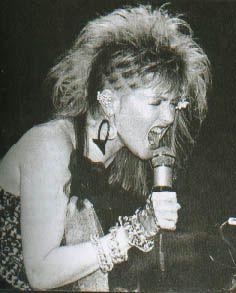 Cyndi Lauper hair punk