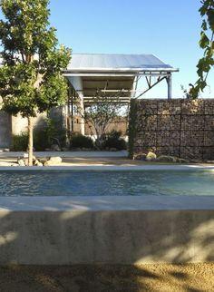 Capri Lounge at the Thunderbird Hotel Marfa Texas Lake | Flato Architects