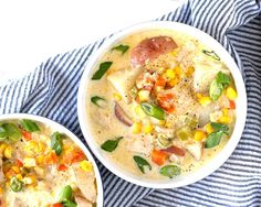 This chicken corn chowder recipe is creamy and hearty comfort food. The recipe is easy to follow and full of veggies - corn, potatoes, carrots and celery!