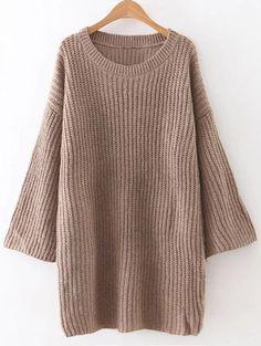 Loose Sweater Mini Dress