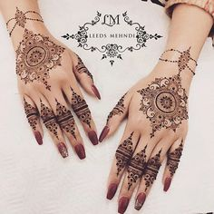 Mandalas for the lovely Iqra So guys i've been thinking really hard into the . Mandalas for the lo Henna Hand Designs, Pretty Henna Designs, Bridal Henna Designs, Mehndi Design Images, Best Mehndi Designs, Henna Tattoo Designs, Mehndi Desing, Henna Tattoo Hand, Henna Art
