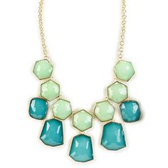 Stephan and Co. Geometric Frontal Necklace