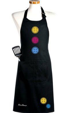 Delantal Botones, con botones de colores para una simpática y necesaria herramienta de trabajo.