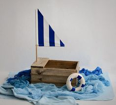 vintage wood boat baby boat prop newborn boat by Mamamada on Etsy