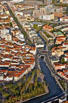 Aveiro, with its canals and traditional architecture  #Portugal