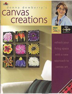 Donna Dewberry Canvas Creations book decorative painting One Stroke technique visual texture paints