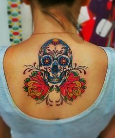Back Mexican Tattoo Designs For Women