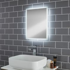 Pebble Grey | Glendale LED Illuminated Bathroom Mirror | This mirror will enhance and light up your bathroom to the next level. Add a touch of luxury with Pebble Grey.